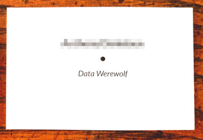 Anthony Danielsen | Data Werewolf