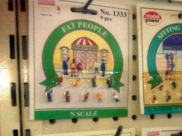 N Scale Fat People