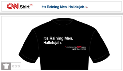 It's Raining Men. Hallelujah.